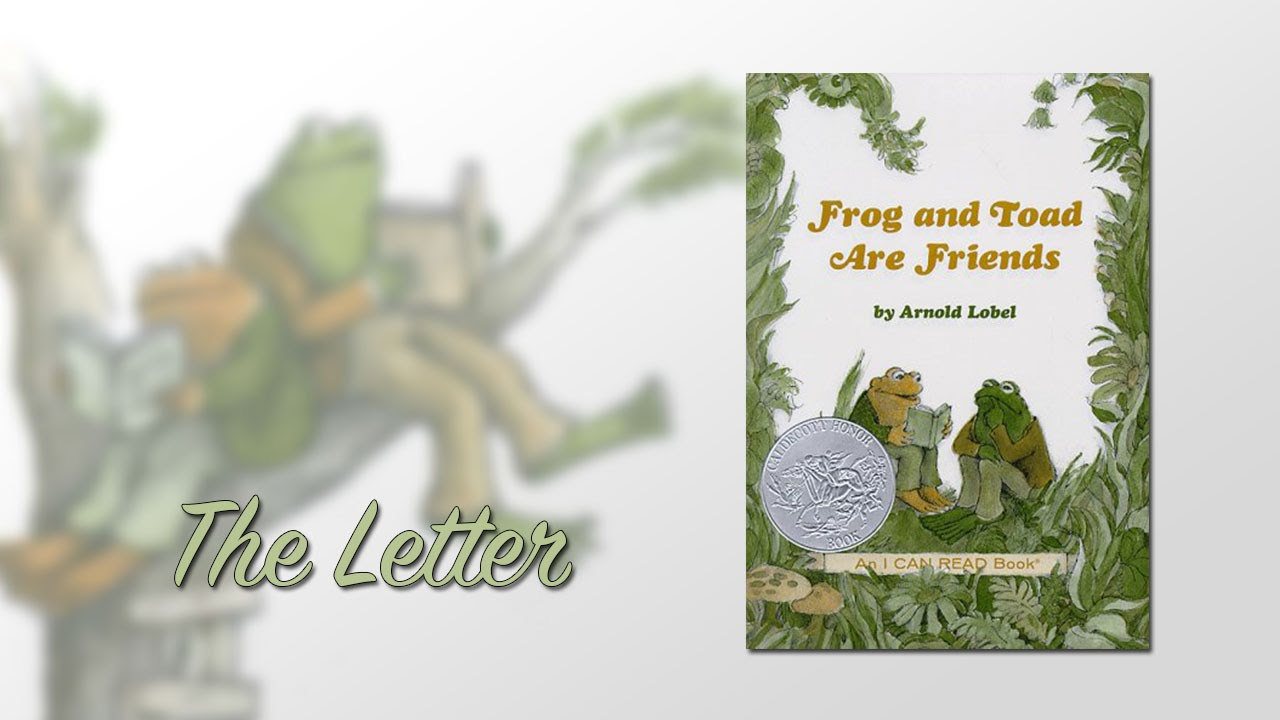 frog and toad are friends ch5 the letter youtube