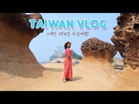 [VLOG] 3박4일 대만 자유여행~!! 같이 떠나보아요! Taiwan Vlog✈️🇹🇼
