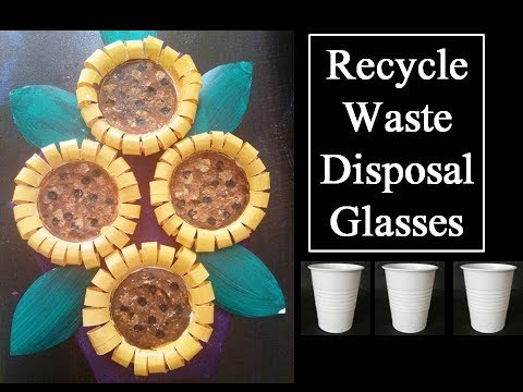 how to recycle disposal glasses | DIY | kids craft ideas