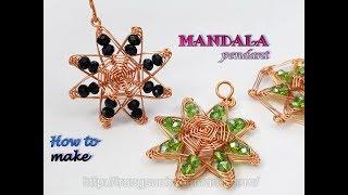 Mandala pendant inspired