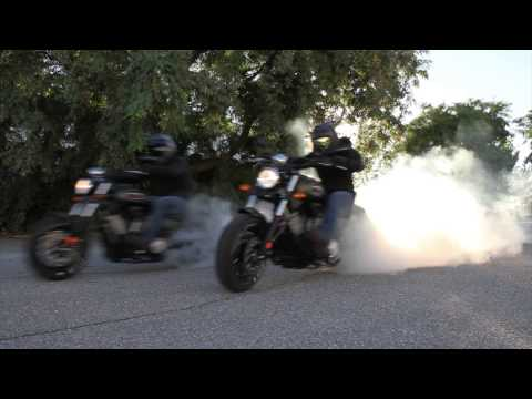 National Burnout day with Victory Motorcycles Stunt riders