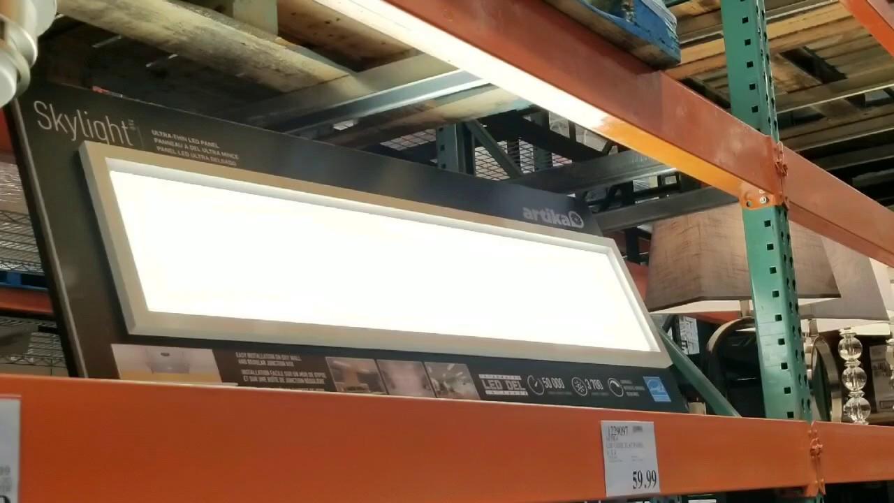 costco artika skylight 1 x4 led flat panel light 59