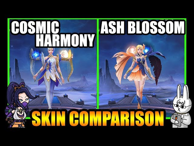 LUNOX ASH BLOSSOM STARLIGHT SKIN EFFECTS VS. COSMIC HARMONY - MLBB SKIN COMPARISON SERIES