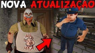 NOVA ATUALIZAÇÃO DE HALLOWEEN DO AÇOUGUEIRO! UM POLICIAL APARECEU! - Mr Meat (JOGO DE TERROR)
