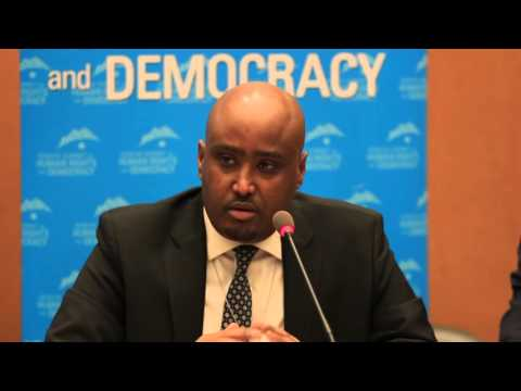 Exiled Eritrean Human Rights Lawyer Daniel Mekonnen at 2016 Geneva Summit