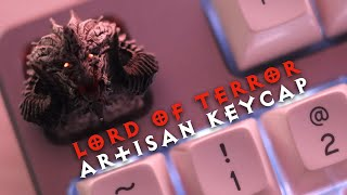 Lord of Terror Artisan Keycap Unboxing and Short Typing Sounds CTRL Holy Panda SA Keycap