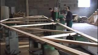 MiTek C-30(Сборка деревянных стропильных ферм на металлозубчатых пластинах при помощи оборудования MiTek - C пресс 30 тонн., 2011-02-04T08:09:41.000Z)