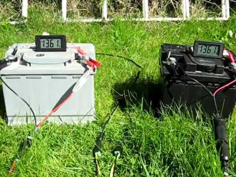 Charging Two Car Batteries With One Solar Panel Youtube