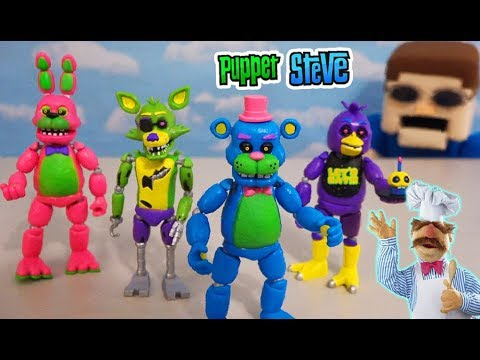 Five Nights at Freddy&39;s Funko Articulated Figures Series 5 - The Blacklight Set Unboxing