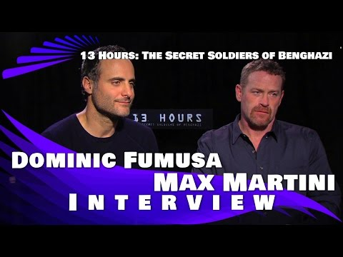 Dominic Fumusa & Max Martini interview: 13 Hours- The Secret Soldiers of Benghazi