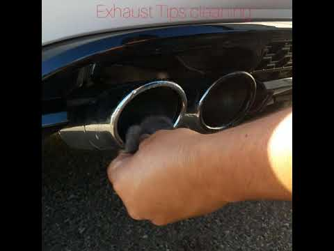 Golf R/GTI Exhaust Tips Cleaning