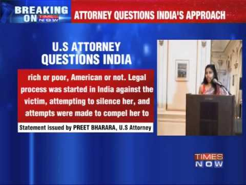 US attorney questions India