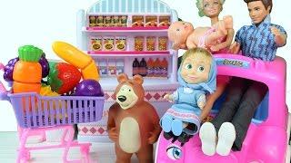 Maşa Bebek Bakıyor Koca Ayı ve Barbie ile Beraber - Çizgi Film Tadında
