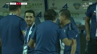 هدف الفيحاء الأول ضد الشباب إيلر سيلفا بالخطأ في مرماهفي الجولة 2 من دوري كأس الأمير محمد بن سلمان