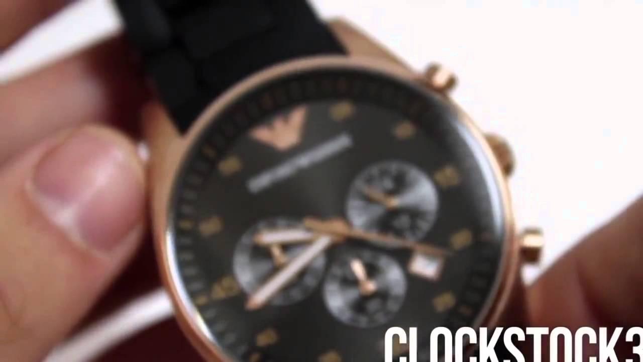 Как отличить подделку часов Armani