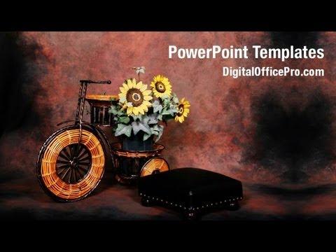 sunflower fantasy powerpoint template backgrounds digitalofficepro