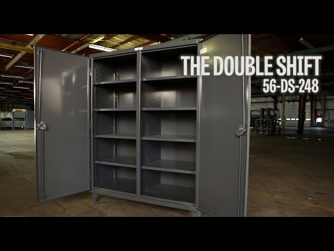 Strong Hold Products Industrial Storage Cabinet Double Shift (56-DS-248)