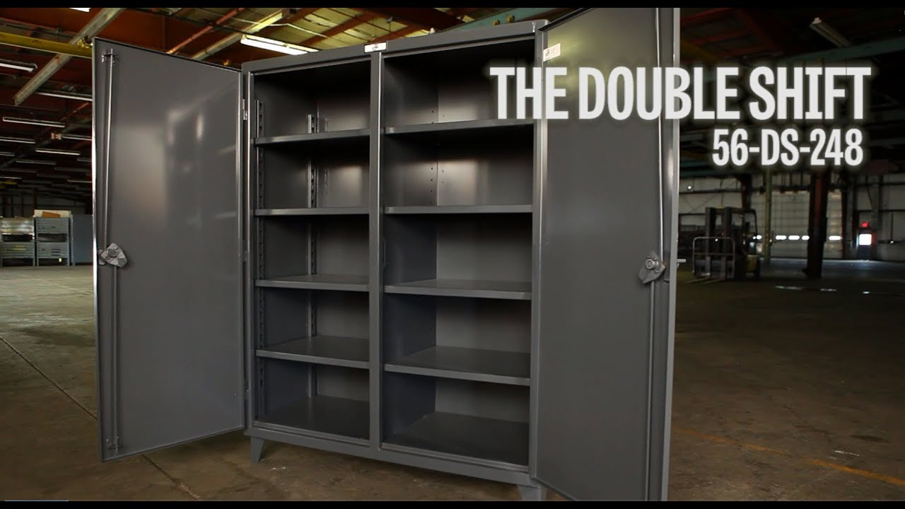 Strong Hold Products Industrial Storage Cabinet Double Shift (56 DS 248)    YouTube