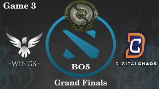 DC vs Wings Highlights Game 3, TI 6 Grand Finals