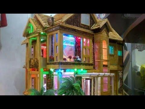 mô hình nhà tăm tre đẹp