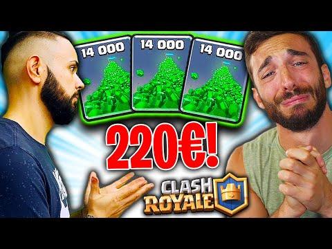 CICCIO MI OBBLIGA A SPENDERE 220€ su CLASH ROYALE!! Basta LIKE! w/Cicciogamer89