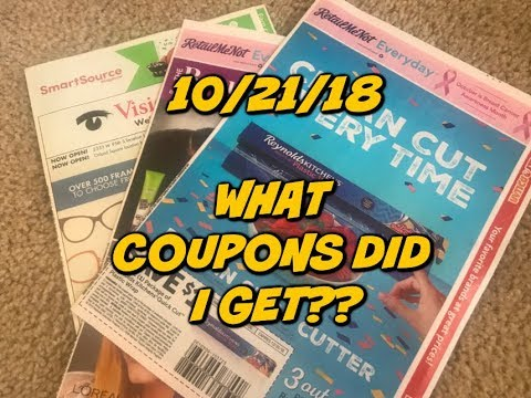 10/21/18 WHAT COUPONS DID I GET???  | 3 Inserts...Surprise!