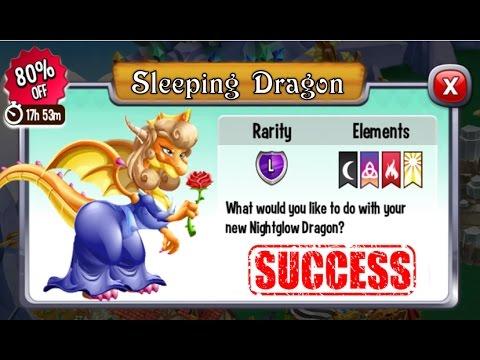 Dragon City - Sleeping Beauty Dragon + Fighting Boss [Legendary Dragon 2017]