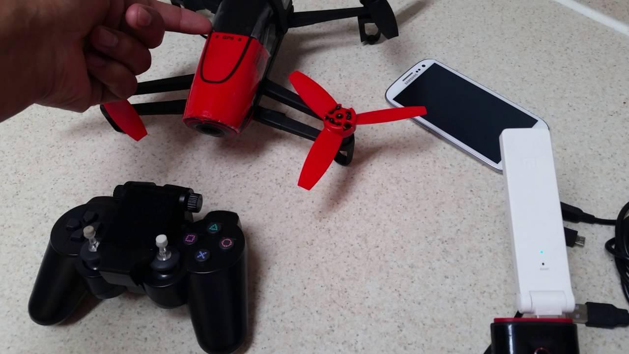 Parrot Bebop Skycontroller Alternative: PS3 Game Controller + Xiaomi Mi USB  WiFi Amplifier (part 2)