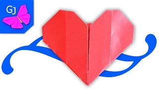 Оригами из бумаги | Простое Сердце | Валентинка