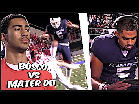 STUNNING !! #1 Mater Dei vs #2 St John Bosco 🔥🔥 Top Two Teams in The Nation 🔥 INSTANT CLASSIC