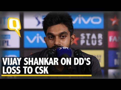 IPL 2018: Delhi Daredevils' Vijay Shankar After His 50 Against CSK | The Quint