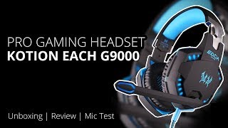 Headset gaming PUBG murah - Kotion Each G9000 head set |  | Unboxing Test Review