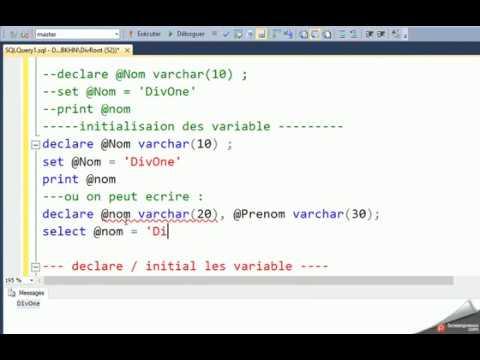 transact SQL , les vaiable (DECLARE, SELECT, PRINT, CONVERT, CAST - sql convert