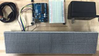Miniature 64x16 LED Marquee Project