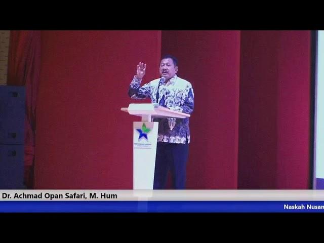 Achmad Opan Safari, Lukisan kaca, Festival Naskah Nusantara IV