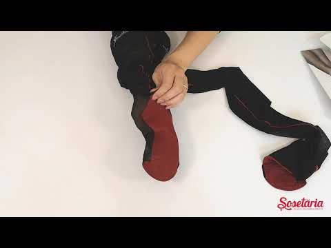 Prezentare ciorapi cu dunga rosie Lores Riga Rossa 20 den