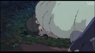 원령공주(모노노케 히메) 수면송, 잠 잘때 휴식중 듣는 음악, 6시간 후 아시타카가 깨워줌, 히사이시 조, Princess Mononoke ost, 6 hours / 지브리