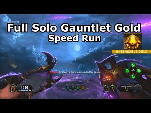 Full Solo Gauntlet Unsinkable Gold Speedrun New Mode PS4