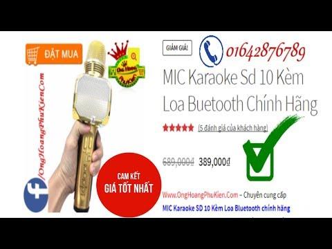 MIC Karaoke Sd 10 Kèm Loa Buetooth Chính Hãng, OngHoangPhuKien.Com
