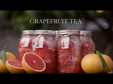 Picking and Preserving Grapefruit for Grapefruit Tea