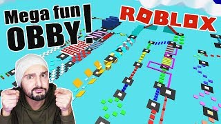 Roblox: MEGA FUN OBBY CHALLENGE against subscribers! HOW FAR K COMES IN 20 MINUTES?