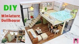 Đồ chơi mô hình nhà tý hon/ Lắp ráp ngôi nhà búp bê 2 tầng tuyệt đẹp /Miniature Dollhouse Ami DIY
