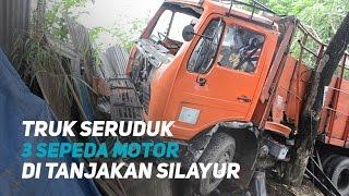 Download lagu Truk Tabran Tiga Sepeda Motor di Tanjakan Silayur