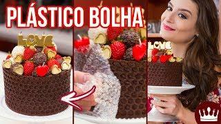 BOLO PLÁSTICO BOLHA COM CHOCOLATE (DRESSED CAKE) - Receita Namorados | Cozinha Bom Gosto: Gabi Rossi
