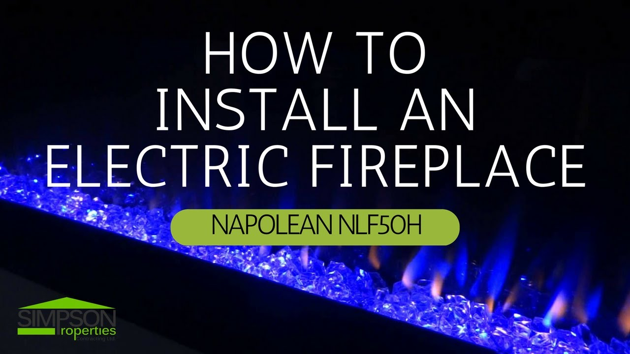 how to install a napoleon electric linear fireplace youtube