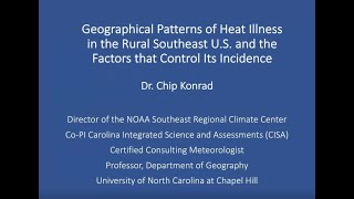 VCCA Webinar Series 2021.6.10 Geographical Patterns of Heat Illness