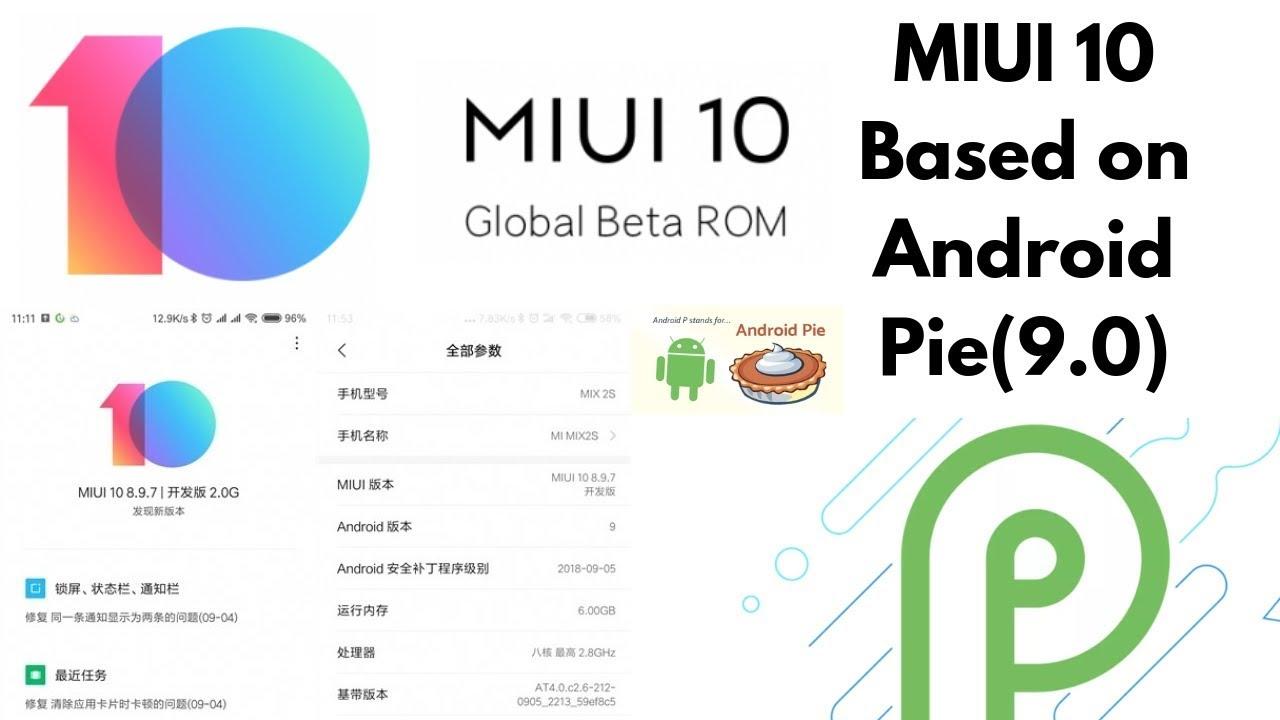 miui 10 android version