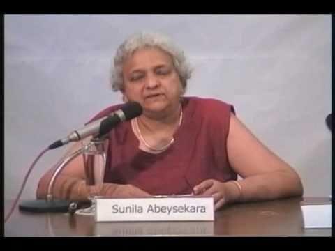 Sunila Abeysekera's Presentation on the Impact of Conflicts on Women and Girls