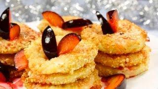 Жареные яблоки с орешками кешью видео рецепт