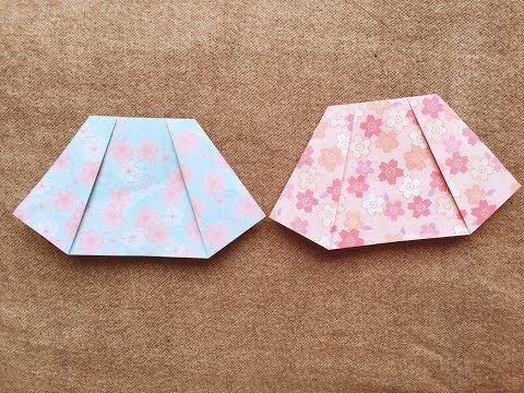 How to make a paper skirt tutorial - Origami skirt